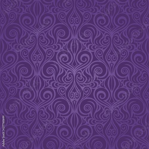 Violet purple vintage seamless pattern Floral background ornate wallpaper design