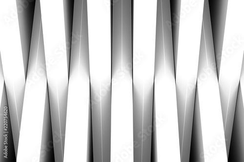 czarno-białe crosshire streszczenie 3d ilustracji
