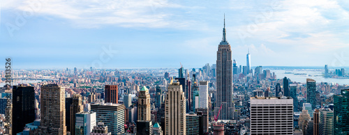 Cityscape view on downtown of Manhattan in New York City