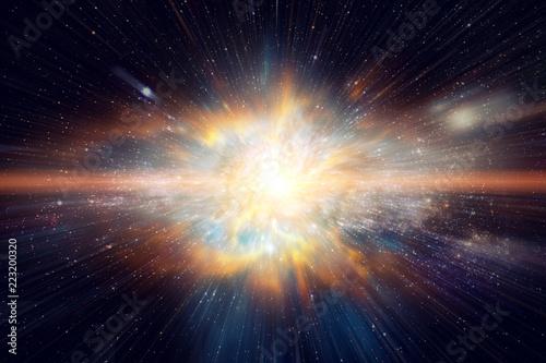 Prędkość światła w przestrzeni kosmicznej i Galaxy. Elementy tego obrazu dostarczone przez NASA.