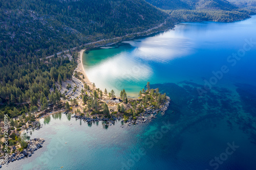 Aerial View of Lake Tahoe Shoreline