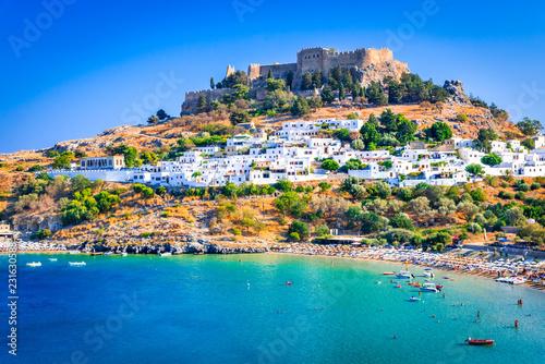 Lindos, Akropol na Rodos, Grecja