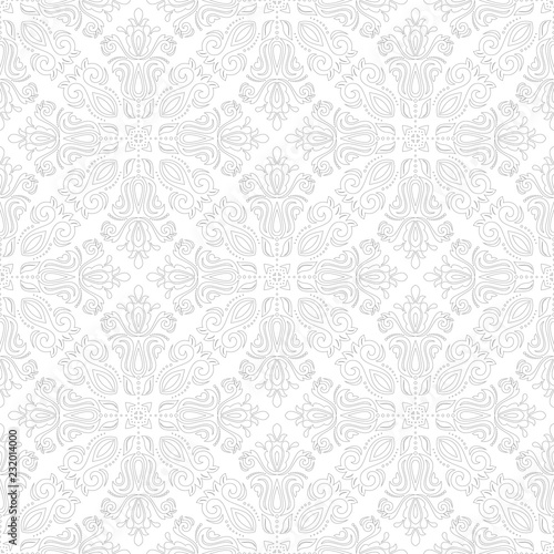 Orient vector classic pattern. Seamless abstract background with vintage silver elements. Orient background. Ornament for wallpaper and packaging