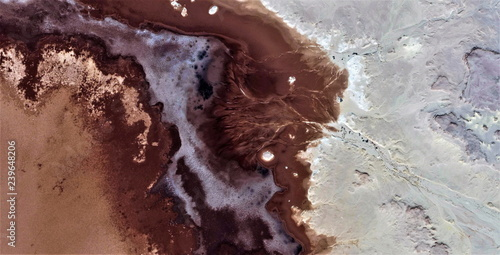 The salt of the earth, black gold, polluted desert sand, abstract photo of the deserts of Africa from the air. aerial view, Genre: Abstract Naturalism, from the abstract to the figurative