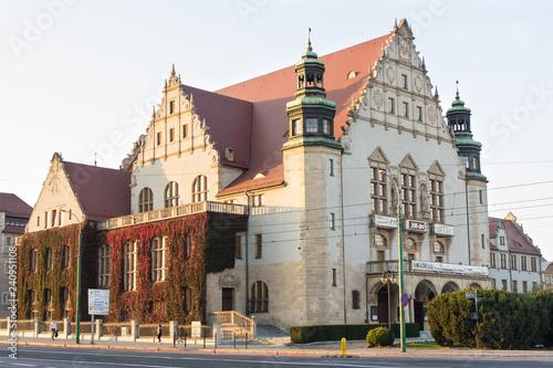 Poznan, Poland - October 12, 2018: Adam Mickiewicz university building in polish city Poznan