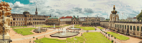 Dresden, Germany - August 4, 2017: Zwinger - late German Baroque, founded in the early 18th century. a complex of four magnificent palace buildings.