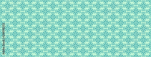 Seamless Pattern Green Wallpaper