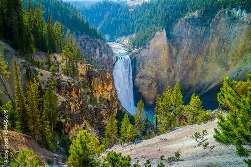 Great Falls of Yellowstone w Wyoming
