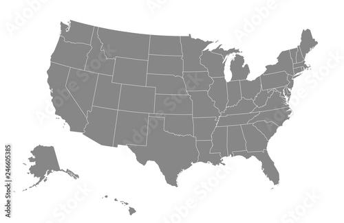 Mapa USA Ilustracji wektorowych.