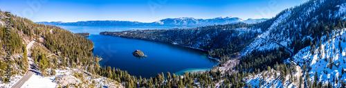 Aerial Emerald Bay, Lake Tahoe, California USA Panorama