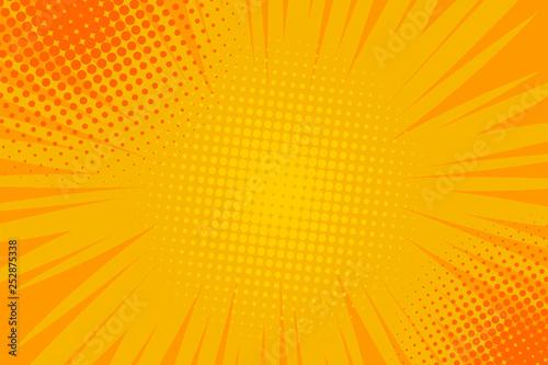Komiks pop-art paski promieniowe tło