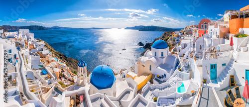 Zmierzch na sławnym Oia mieście, Grecja, Europa