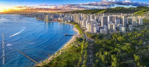 Honolulu panoramę z widokiem na ocean