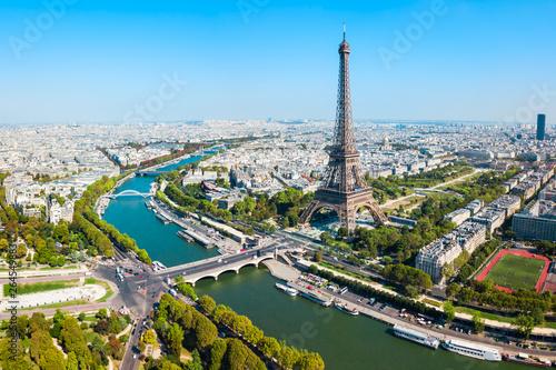 Widok z lotu ptaka wieży Eiffla, Paryż