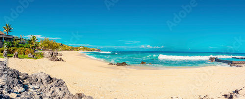 Boucan Canot Beach at Reunion Island - Popular beach for locals and tourists - touristic site