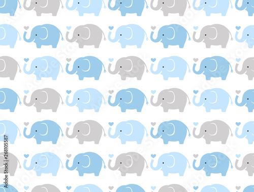 seamless elephant animal cartoon wallpaper background pattern
