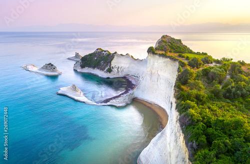 Piękny widok na Przylądek Drastis na Korfu w Grecji