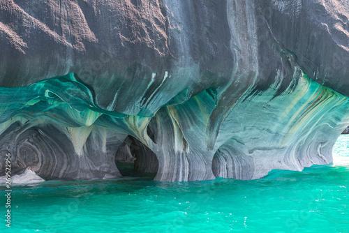 Marble Cathedral of lake General Carrera, Chilean Patagonia