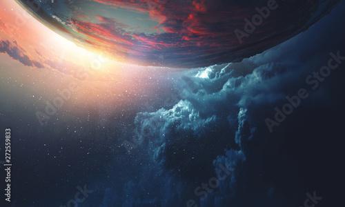 Piękno kosmosu. Orbita planety.