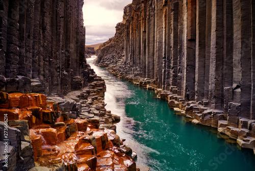 Kanion bazaltowy Studlagil, Islandia