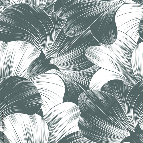 Seamless fancy vector floral pattern
