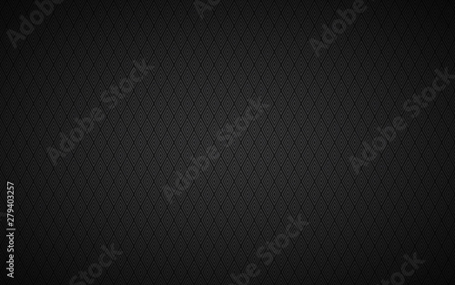 Black modern seamless pattern, black and grey luxury background, vector illustration composed of rhombuses