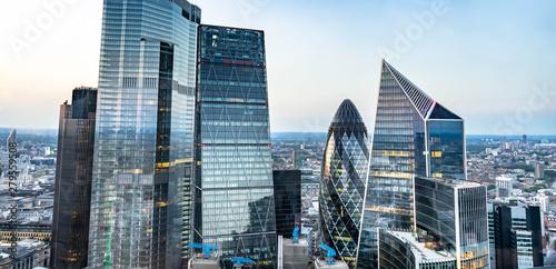 London skyline , city escape at sunset