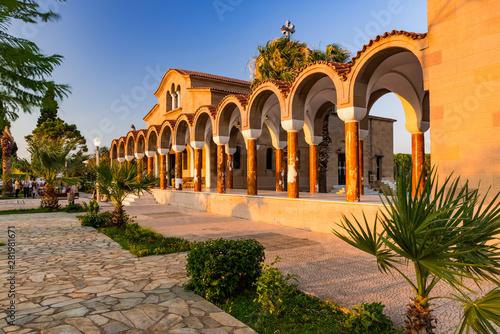 Saint Nectarios Orthodox Church in Faliraki, Greece, Rhodos Island