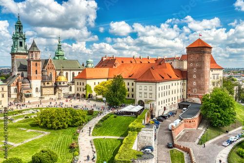 Zamek Królewski na Wawelu podczas Dnia, Kraków