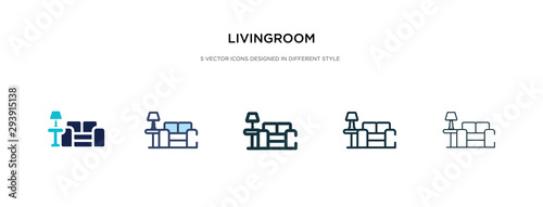 livingroom icon in different style vector illustration. two colored and black livingroom vector icons designed in filled, outline, line and stroke style can be used for web, mobile, ui
