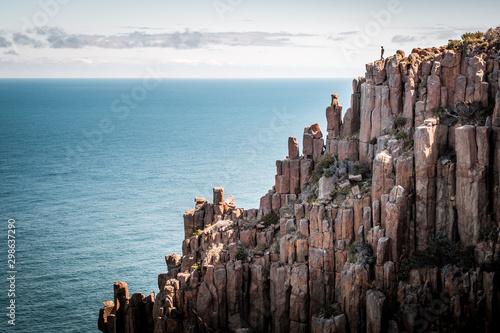 Three Capes Track, Tasmania Bushwalking hike along the stunning cliffs of Australia Cape Pillar, Cape Roul and Cape Huay, with spectacular views of the Tasman Sea