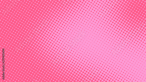 Baby pink pop art background in retro comic style with halftone dots design, vector illustration eps10