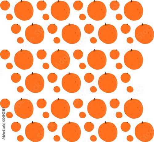 Orange wallpaper, illustration, vector on white background.