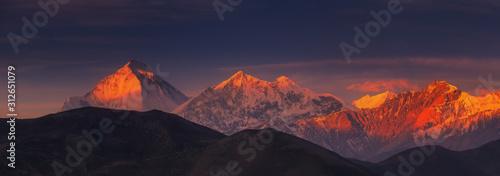 Sunrise on Dhaulagiri, Nepal