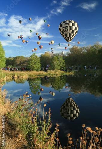 Reflections at the Great Reno Balloon Race