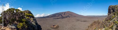 Beautiful panoramic view or Reunion island volcano
