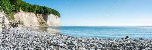 Chalk cliffs on Rügen island along the Baltic sea