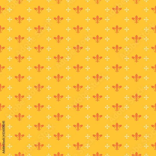 Bright yellow wallpaper, seamless pattern. Textile design texture. Vector art.