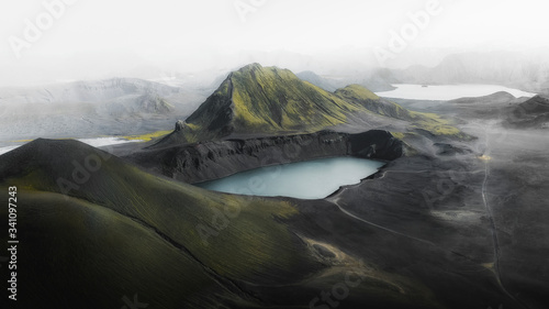 Blue lake in Iceland
