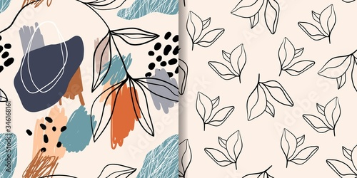 Abstract seamless patterns/ backgrounds/wallpapers set with different trendy design