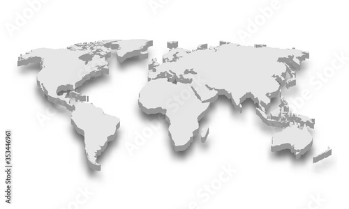 3d map of world Template for your design
