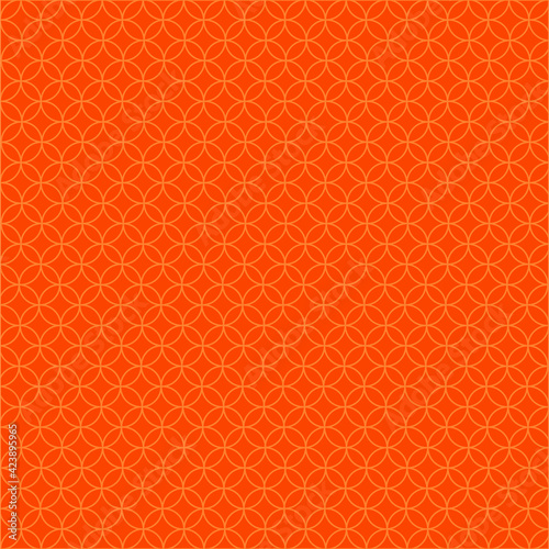 Geometric background made from circles, repeating elements, abstract seamless pattern, orange wallpaper