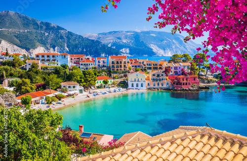 Kefalonia, Greece. Colorful village of Assos in Kefalonia.