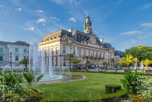 Tours, France. City Hall at Jean Jaures Square