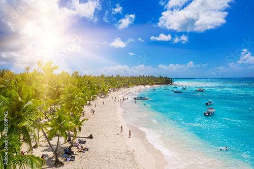 Tropical carribbean beach