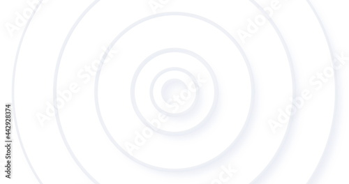 Image of white concentric circles pulsating on seamless loop