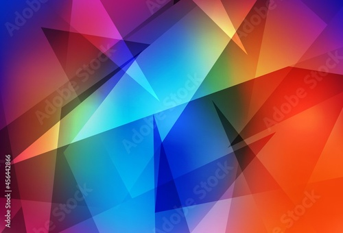 Dark Multicolor vector texture with triangular style.
