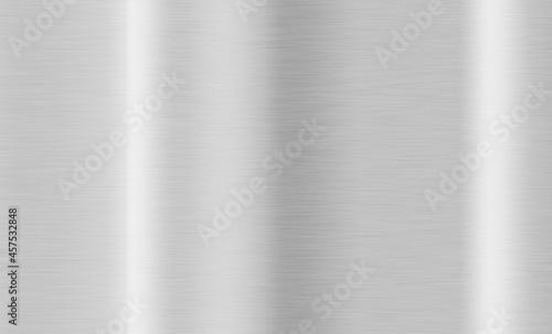 光沢のある高級な銀色の背景素材。シルバープレートテクスチャ。