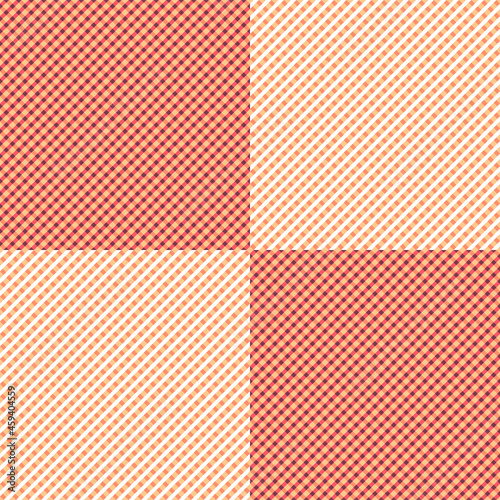 Seamless chequered background in beige colours. Textile print in modern fashion.