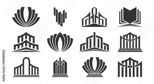 Set of modern abstract vector logos